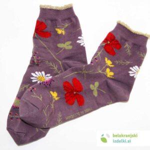 Nogavice – Flower Field – Vijolična