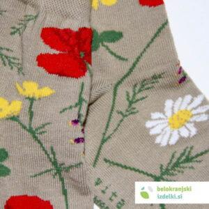 Nogavice – Flower Field – Bež