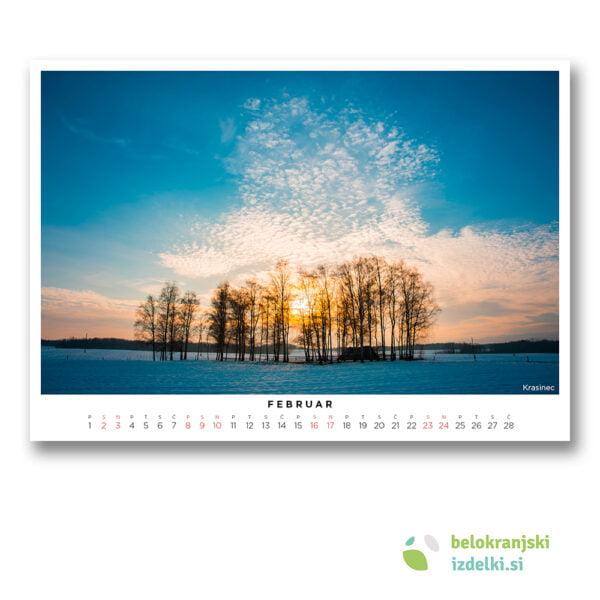 Bela krajina Koledar (februar - Krasinec)