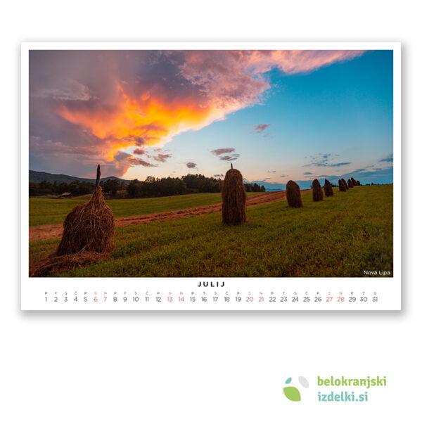 Bela krajina Koledar (julij - Nova Lipa)