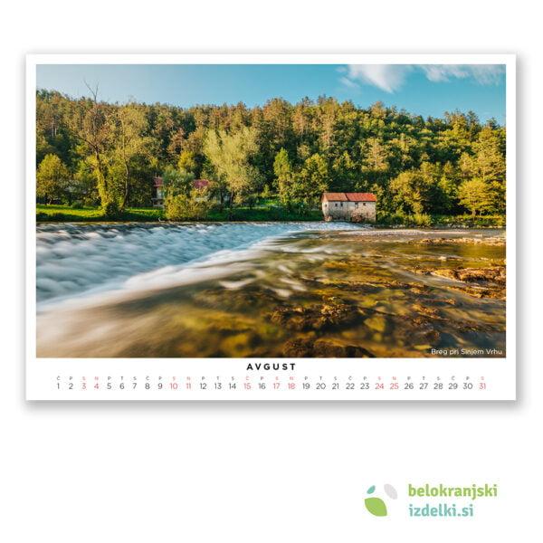 Bela krajina Koledar 2019 (avgust - Breg pri Sinjem Vrhu)