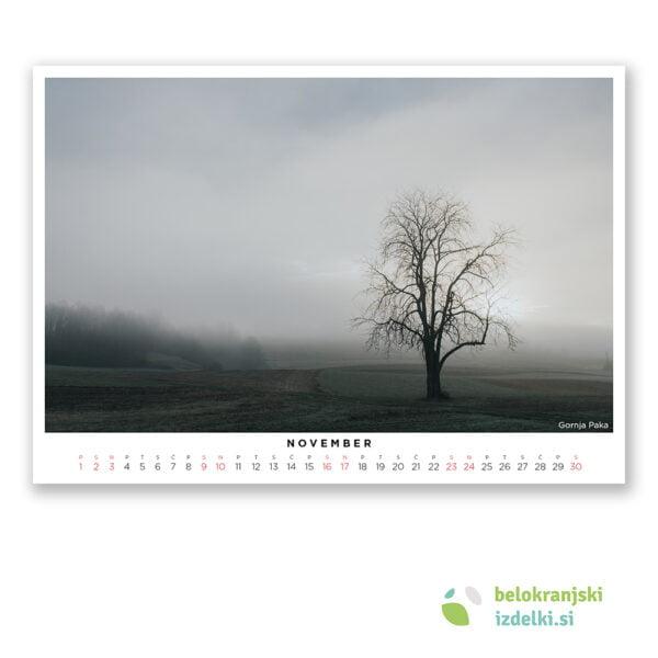 Bela krajina Koledar (november - Gornja Paka)