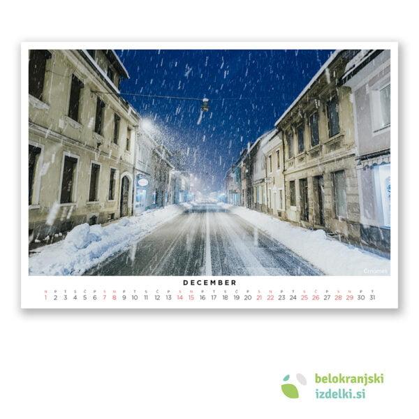 Bela krajina Koledar (december - Črnomelj)