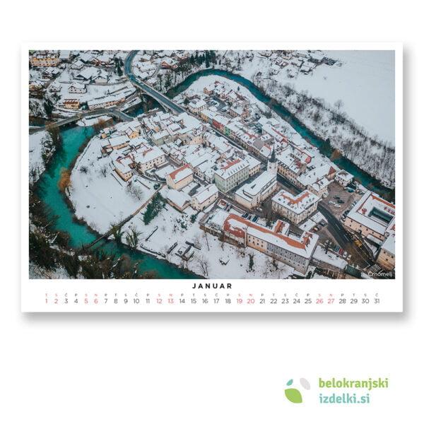 Bela krajina Koledar (januar - Črnomelj)