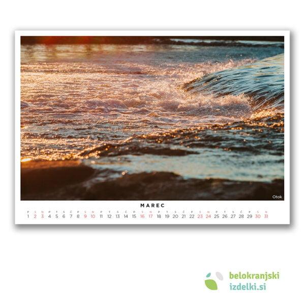 Bela krajina Koledar (marec - Otok)