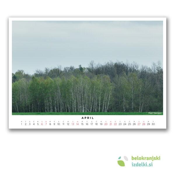 Bela krajina Koledar (april - Mali Nerajec)