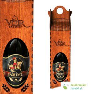 Buteljčna steklenica Maximus 0,75 L v unikatni leseni embalaži | Pivovarna Vizir