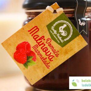 Domača malinova marmelada 212ml