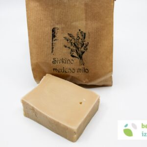 Naravno ročno izdelano medeno milo (sivka, ognjič) – kvader