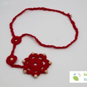 Volnene kvačkana ogrlice | različni modeli in barve