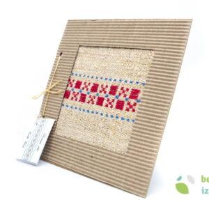 Prtiček z belokranjskim vzorcem – lan in konoplja – mali