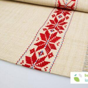 Lanena zavesa za na palico | 114 x 60 ( po naročilu)
