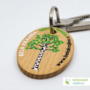 Lesen obesek za ključek – belokranjski motiv