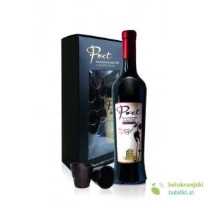 Vino Poet ROMANTIC aromatizirano KZ Metlika škat stn 0,5l +20 čokoladnih kozarčkov